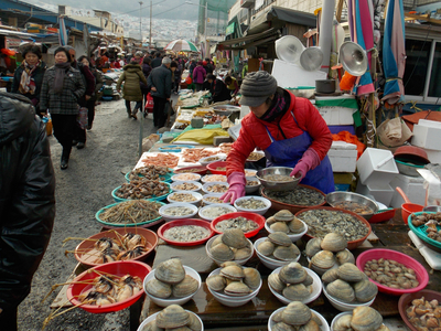South Korean Seafood Market