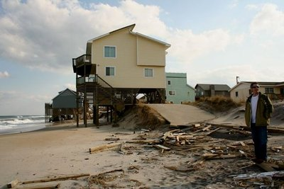 Severe Beach Erosion at South Nags Head, NC (2009)
